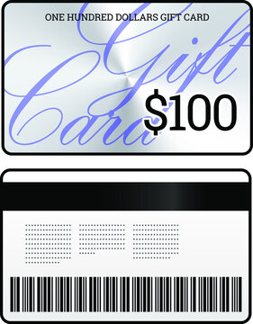 A $100 gift card in a simple, classy, sophisticated design.