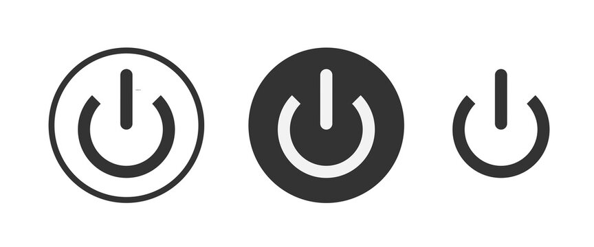 log off icon . web icon set . icons collection. Simple vector illustration.