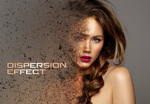 Dispersion Photo Effect with Dust Mockup