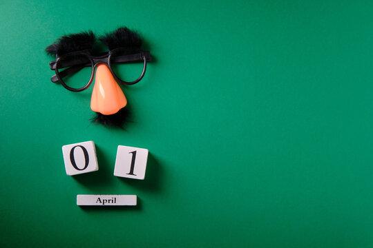 Mustache overhead glasses, April 1, joke, April fools day