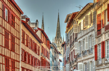 Wall Mural - Bayonne at Christmas, HDR Image