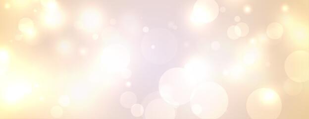 Obraz festival bokeh lights white banner design - fototapety do salonu