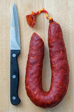 Chorizo, spanische Salami mit Paprika