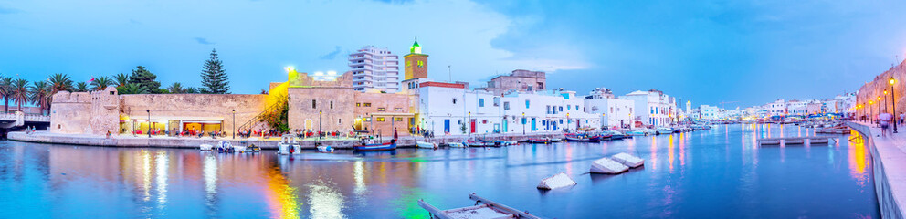 Panoramic view on Biretre's old fishing port, Tunisia