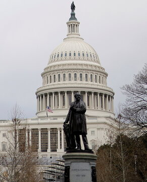 The U.S. Capitol is seen following violent protests in Washington