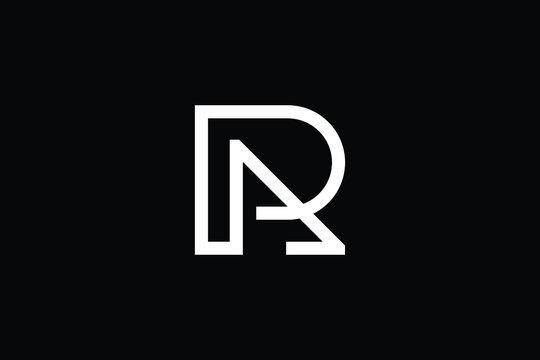 AR logo letter design on luxury background. RA logo monogram initials letter concept. AR icon logo design. RA elegant and Professional letter icon design on black background. AR RA