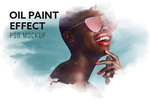 Oil Paint Effect Mockup