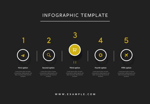 Infographic with White and Yellow Accent