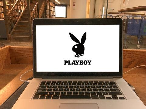 playboy logo editorial illustrative