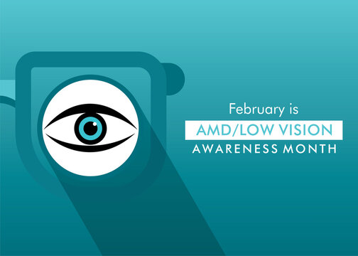 AMD or low vision awareness month concept design