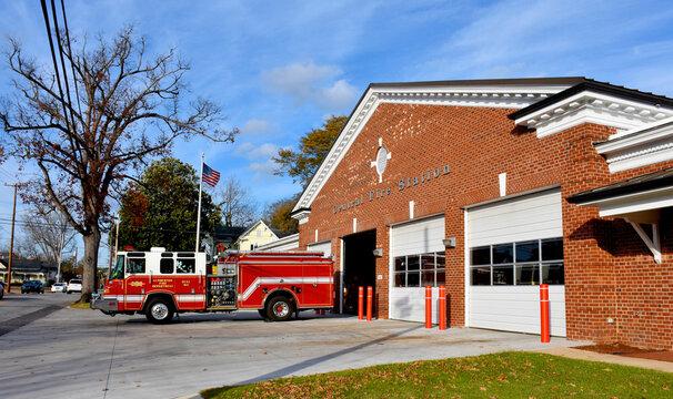 Central Fire Station, Lumberton, North Carolina, USA
