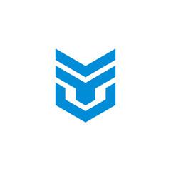 Fototapeta abstract letter tv simple geometric badge logo vector obraz