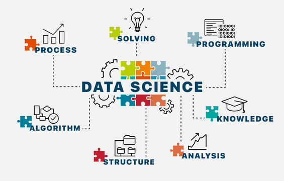 Data Science uses scientific methods, processes, algorithms and systems to extract knowledge and insights from data in various forms, both structured and unstructured. Vector infographics concept