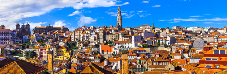 panoramic view of Porto. Portugal travel and landmarks