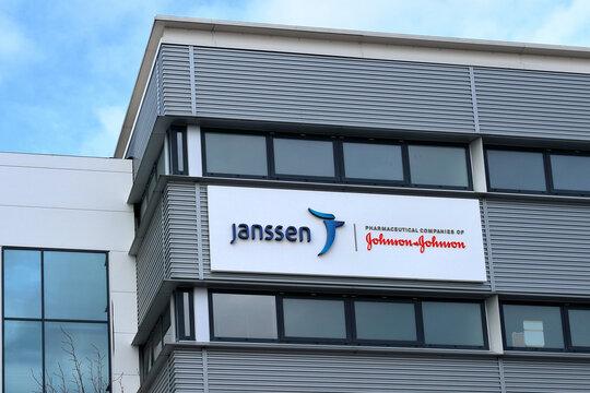Janssen Biologics facilities at BioScience Park Leiden, Netherlands, a Covid vaccine producing company