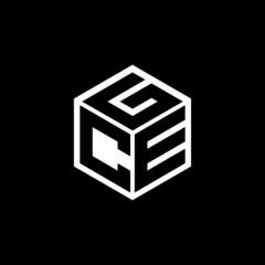 Obraz CEG letter logo design with black background in illustrator, cube logo, vector logo, modern alphabet font overlap style. calligraphy designs for logo, Poster, Invitation, etc. - fototapety do salonu