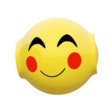 Roboter Emoticon mit einem lächelnden Gesicht.