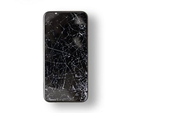Black broken touch screen phone