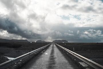 Empty Road Along Countryside Landscape Fotobehang