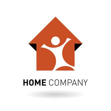 Logo pour votre agence immobilière représentant une maison.