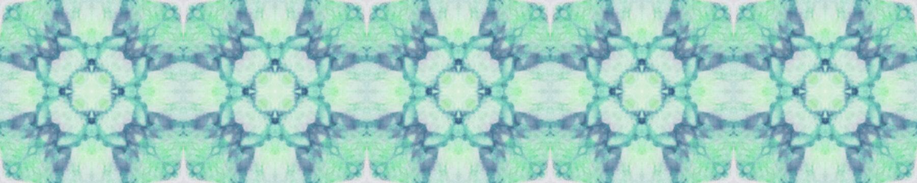 Tie Dye Seamless Ornament. Air Green Pattern.