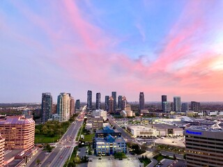 Obraz High Angle View Of Buildings Against Sky During Sunset - fototapety do salonu