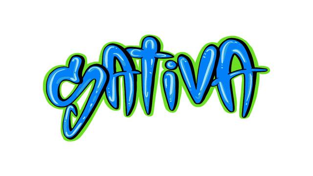 Sativa Bubble Font