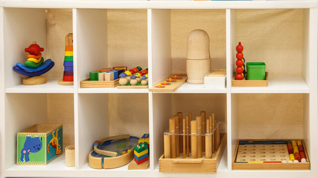 Montessori school for the learning of children