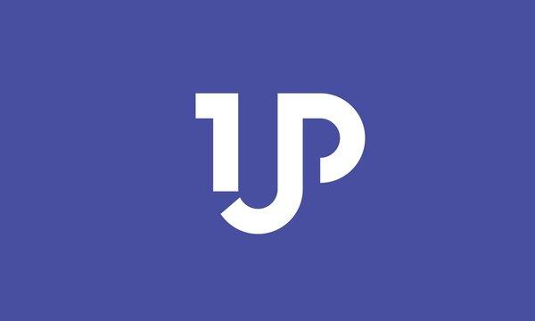 1UP Logo Modern Minimal Professional Symbol