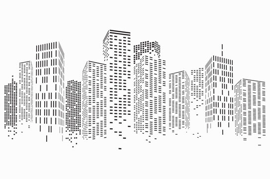 Abstract City Scene buildings, illustration vector