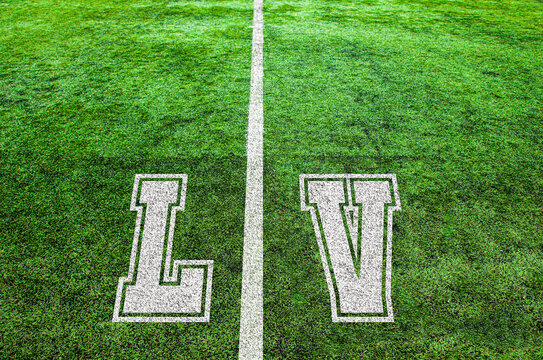 yard line on an american football field, symbolizing the big game