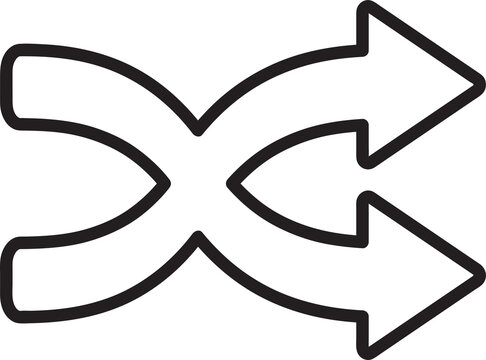 shuffle icon sign design