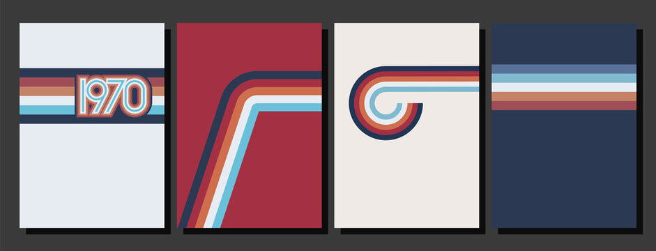 Vintage Color Lines 1970s Style