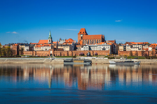 Panorama of the old town of Torun, Poland