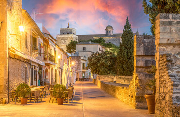 Wall Mural - Landscape with Alcudia Old Town in Palma de Mallorca islands, Spain