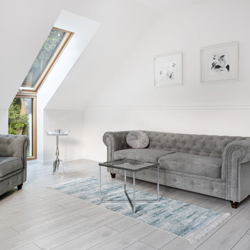 Simple attic living room