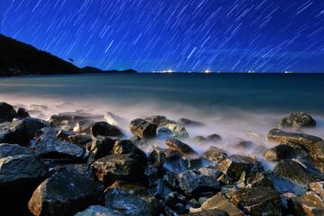 Obraz Scenic View Of Sea Against Sky At Night - fototapety do salonu
