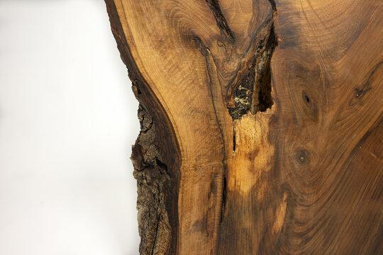 Wood texture, live edge with bark
