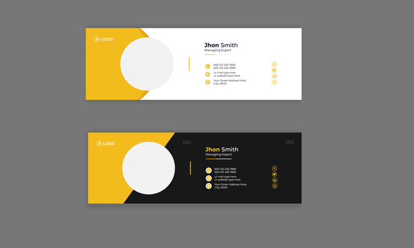 Email Signature Template Design Modern Abstract Colorful