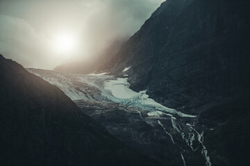 Wall Mural - Dramatic Landscape of Alpine Glacier