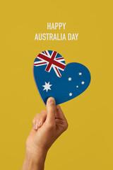 australian flag and text happy australia day