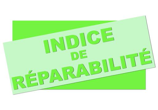 indice de réparabilité vert bannière