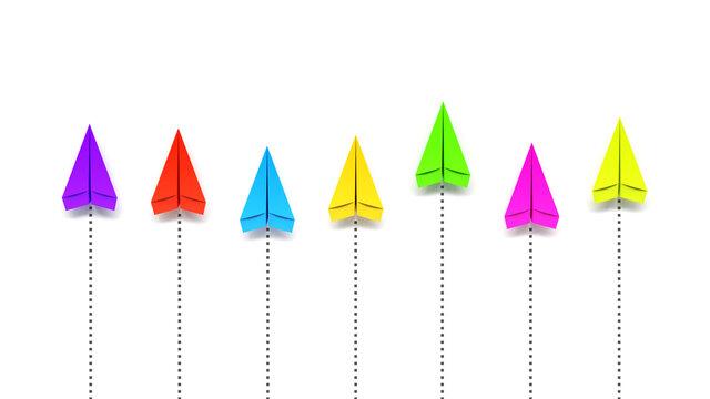 paper planes competition colors