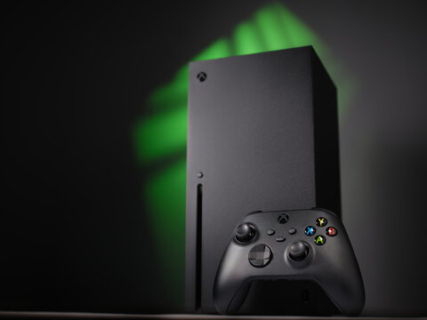 UKRAINE - 06 JANUARY, 2021: New video game console Xbox Series X