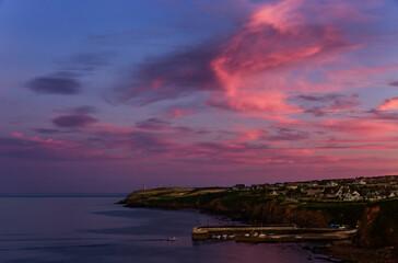Obraz Scenic View Of Sea Against Sky At Sunset - fototapety do salonu