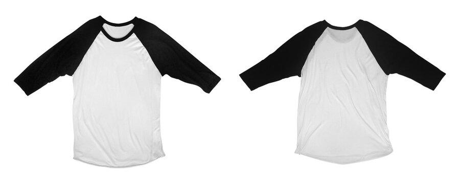 Raglan 3/4 Sleeve Shirt Mockup