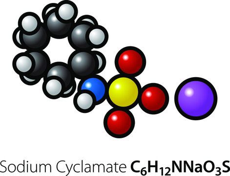A molecule of the artificial sweetener sodium cyclamate.