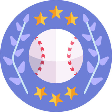 Baseball, softball sport game vector flat icons. Ball, bat, field, helmet, pitching machine, catcher mask. Linear signs set, championship pictograms with editable stroke for event, equipment store.