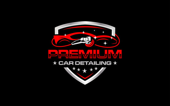 Illustration vector graphic of auto detailing servis logo design template-06