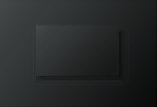 blank frame on black background vector illustration